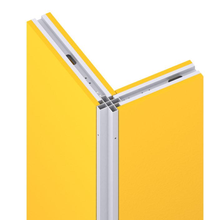 Angle croisé en aluminium