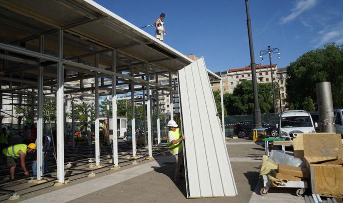 Il montaggio del tetto